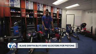 Blake Griffin gives Pistons teammates scooters