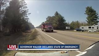 Walker declares state of emergency because of wildfire conditions - Video
