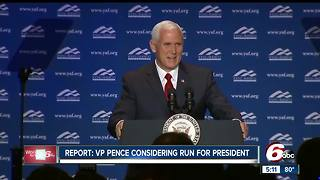 Pence slams report on possible 2020 presidential run - Video