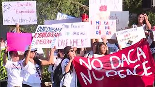 DACA rally held outside Trump Hotel on Las Vegas Strip - Video