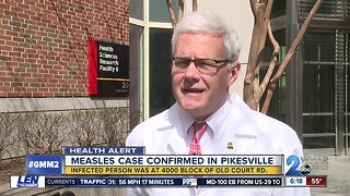 Measles documented in Pikesville