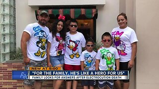 Family looks for answers after electrocution death