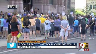 Groups hold vigil in solidarity with Charlottesville victims - Video