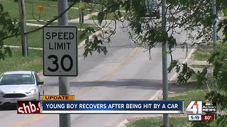 Young boy recovers after being hit by car - Video
