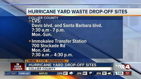New hurricane yard waste drop-off sites