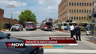 Pedestrian hit by train in Lakeland - Video