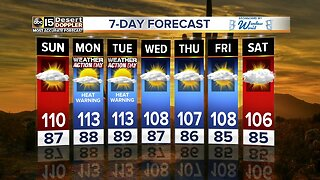 Hot weekend weather persists around the Valley