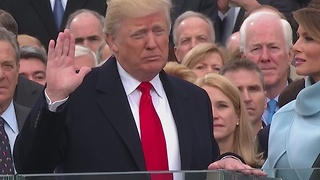 The 45th President of the United States, Donald J. Trump, sworn in - Video