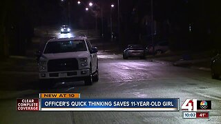Officer saves child's life after drive-by shooting