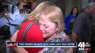 Two women reunite with long lost half-sister