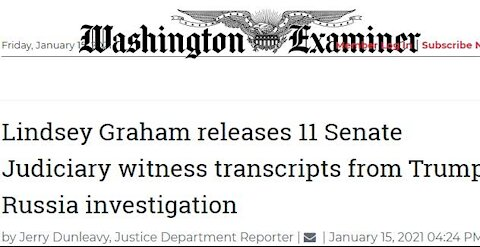 Lindsey Graham Releases 11 Transcripts of Interviews Conducted During Senate Judiciary Committee's
