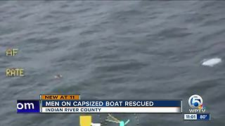 Three men rescued after boat capsizes off Sebastian Inlet