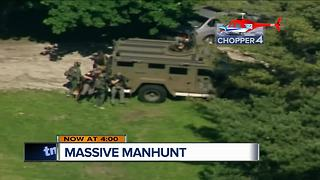 The manhunt continues in Waukesha County