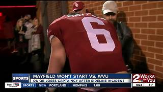 Baker Mayfield won't start, stripped of captaincy for West Virginia game - Video