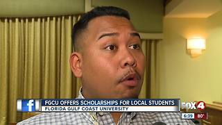 FGCU Offers Scholarships for Local Students - Video