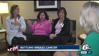 Three co-workers in the breast cancer clinic at IU Health North share a bond - Video