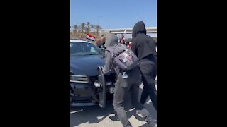 Antifa Tries To Block A Cop Car and It Doesn't Go Well