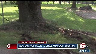 Neighbors react to deadly officer involved shooting on Indy's west side - Video