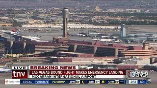 Jet Blue flight from Boston to Vegas makes emergency landing in New York - Video