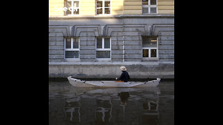 A Recyclable Origami-Inspired Canoe