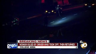 Woman killed in hit-and-run near SDSU