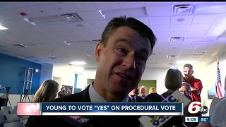 Sen. Todd Young plans to vote 'yes' on procedural health care vote - Video