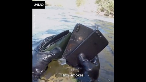 This guy went looking for lost belongings in a river... Just wait 'til you see what he finds