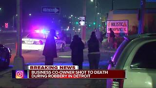Business co-owner shot to death during robbery in Detroit - Video