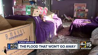 Weeks after monsoon storm, house still flooded - Video