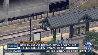 More testing on G line starts today