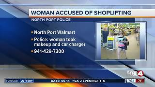 Woman accused of shoplifting - Video