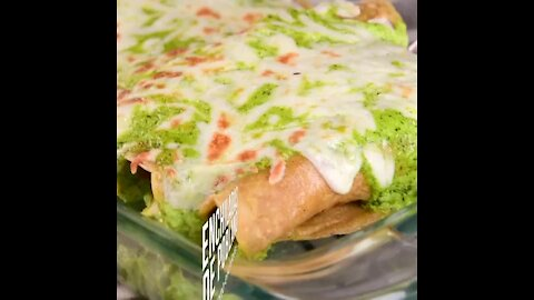 Chicken Enchiladas with Poblano Pepper Sauce