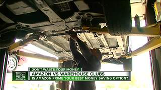 Amazon prices vs. warehouse clubs