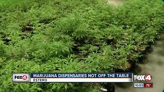 Estero tables Marijuana Dispensary Ban Proposal - Video