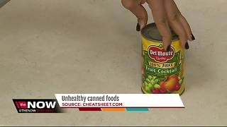 Unhealthy canned foods