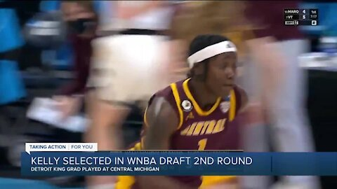 CMU's Micaela Kelly selected in second round of WNBA Draft