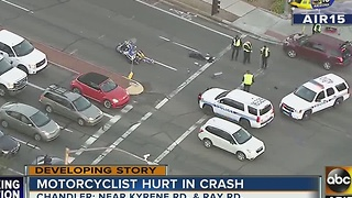 Motorcyclist in critical condition after Chandler crash