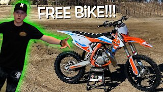 GIVING AWAY A BRAND NEW DIRT BIKE!!!