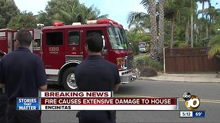 Fire causes extensive damage to house