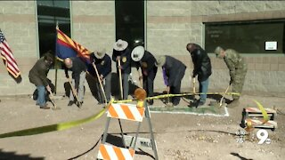 Ground breaking ceremony for Buffalo Soldiers memorial