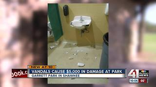 Shawnee Park vandalism could cost thousands - Video