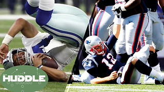 Who's in Bigger Trouble; Cowboys or Patriots? -The Huddle - Video