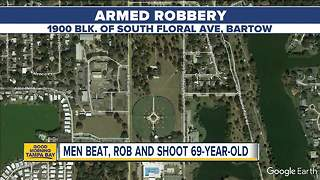 Elderly man on walk with friend beaten, shot and robbed in Bartow - Video