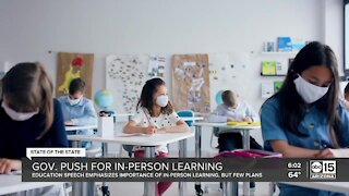 Governor Ducey pushes for in-person learning