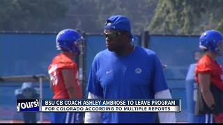 Bronco CB Coach Ambrose to leave BSU for Colorado - Video