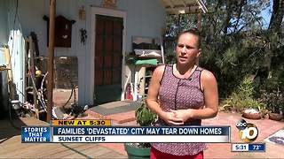 Families 'devastated' city could tear down homes