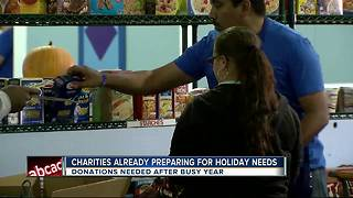 Food banks prepare for busy holiday season - Video