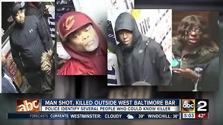 Man leaves bar, shot multiple times in west Baltimore