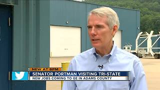 Sen. Rob Portman promotes jobs, jet engines - Video