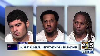 Tempe police nab three suspects in cell phone store armed robbery